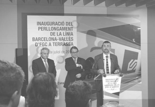 Inauguración de la prolongación de los FGC en Terrassa