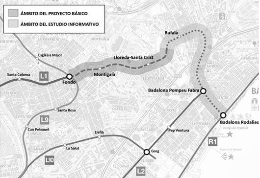 Meta Engineering awarded Badalona Metro Line 1 extension study contract